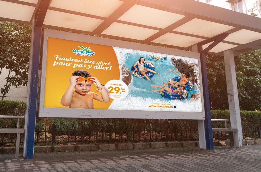 Affiche abri-bus Aquaparc