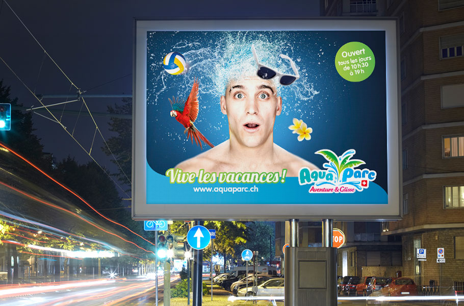 Affichage digital homme Aquaparc