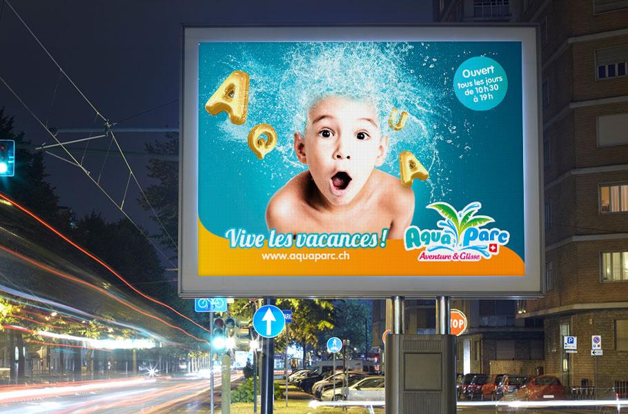 Affichage digital enfant Aquaparc