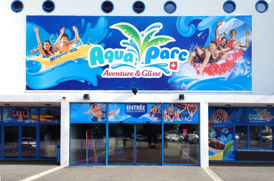 Habillage entrée Aquaparc